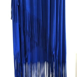 Long (or MIDI) dress with fringe sz small
